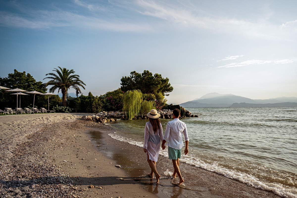 hotel with private beach garda lake